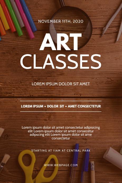Art classes flyer design template postermywall - New home design center checklist ...