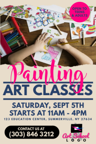 Art Classes Poster