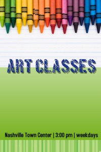 Customizable Design Templates For Art Class Postermywall