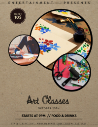 Art Classes flyer template