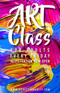 Art Classes Poster Template