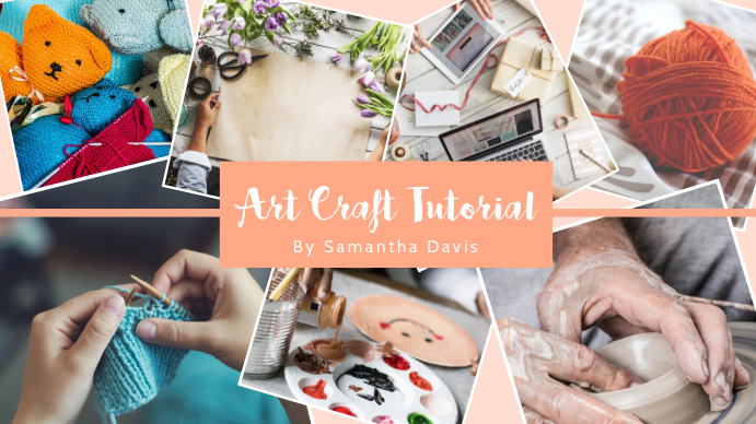 Art Craft Tutorial Youtube Channel Art Template Postermywall
