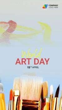 Art Day 2021 celebration เรื่องราวบน Instagram template