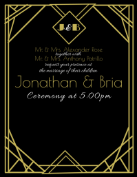 Art Deco Invitation Flyer (US-Letter) template