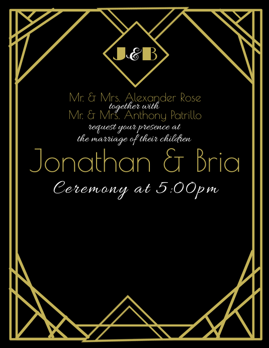 Art Deco Invitation Template Postermywall