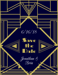 Art Deco Save the Date