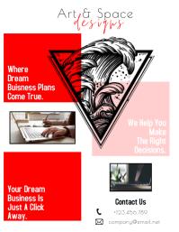 Art Design Flyer Template Pamflet (Letter AS)