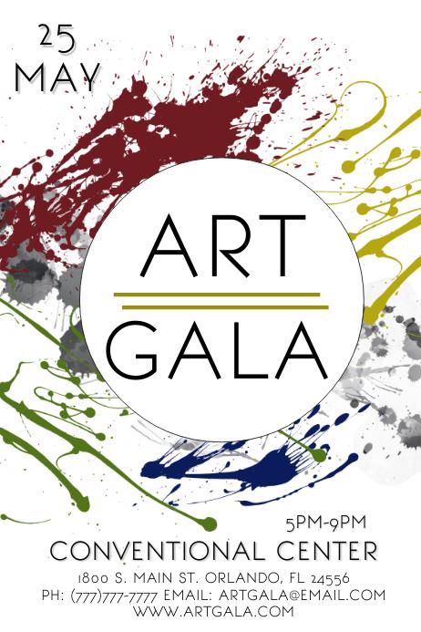 Art Event Poster template