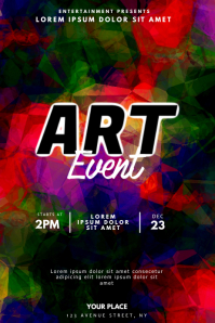 Art Event Flyer Design template