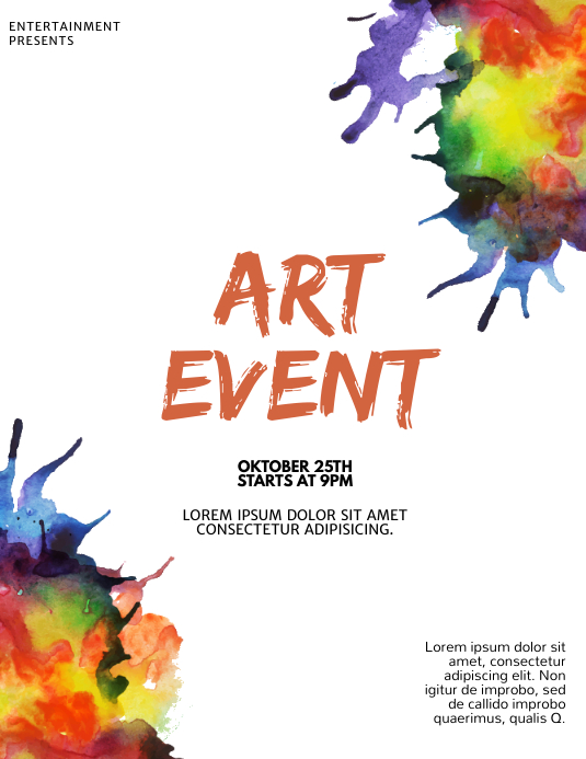 Art Event Flyer Design template