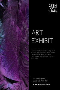 Art Exhibit Flyer Design Template