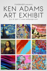 Art Exhibit Flyer Template