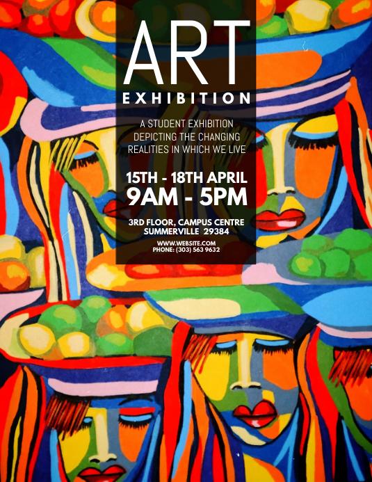 copy of art exhibition flyer