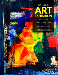Customizable design templates for art exhibition postermywall art exhibition flyer stopboris