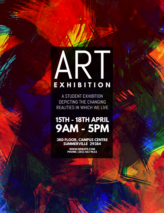 copy of art exhibition flyer