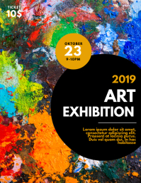 art exhibition flyer template ใบปลิว (US Letter)