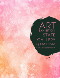 Art Exhibition Gallery Poster