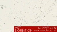 Art Exhibition Gallery Video Invite Template Tampilan Digital (16:9)