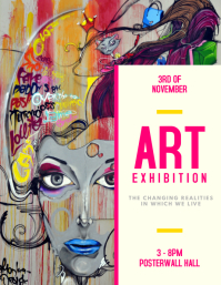 Customizable design templates for art exhibition postermywall art exhibition flyer template stopboris Choice Image