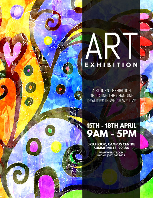 Copy of Art Exhibition Flyer | PosterMyWall