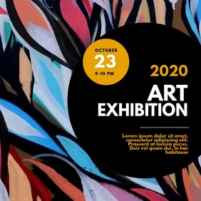 art exhibition Video Advertising template