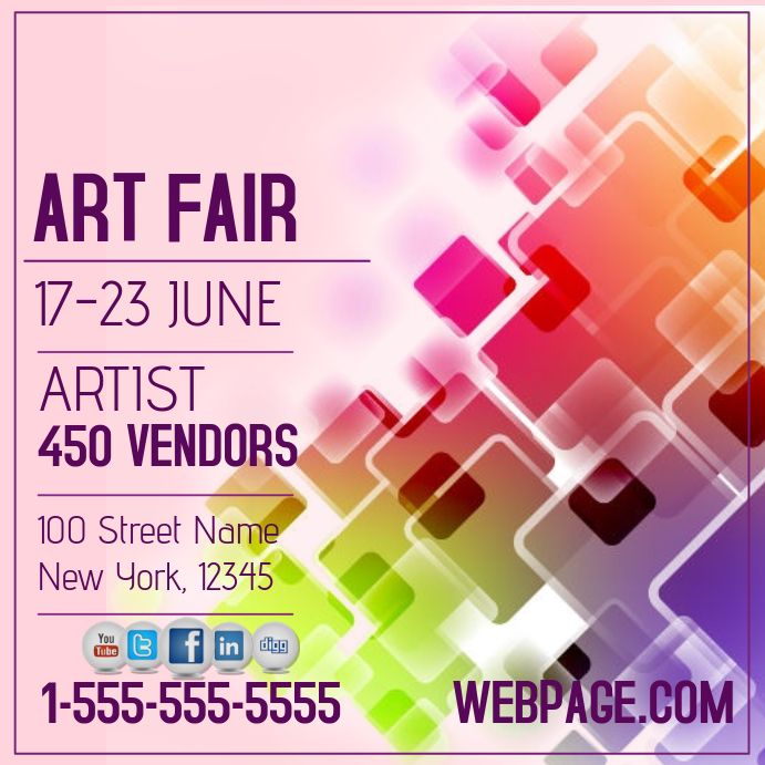 art fair event template postermywall