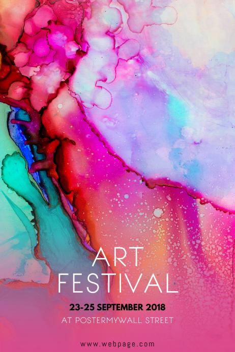 Art Festival Event Flyer template
