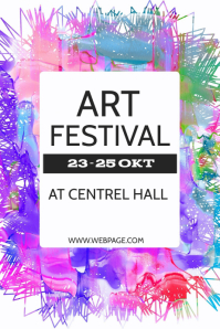 Art festival flyer template