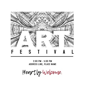 Art Festival Invitation Album Cover template