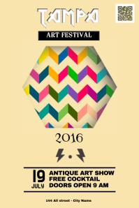 Art festival poster - Vintage design
