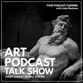 art history podcast advertisement design temp
