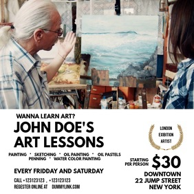 Art Lessons Template