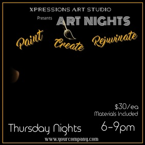 Art Night Digital Ad