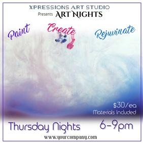 Art Night Digital Ad