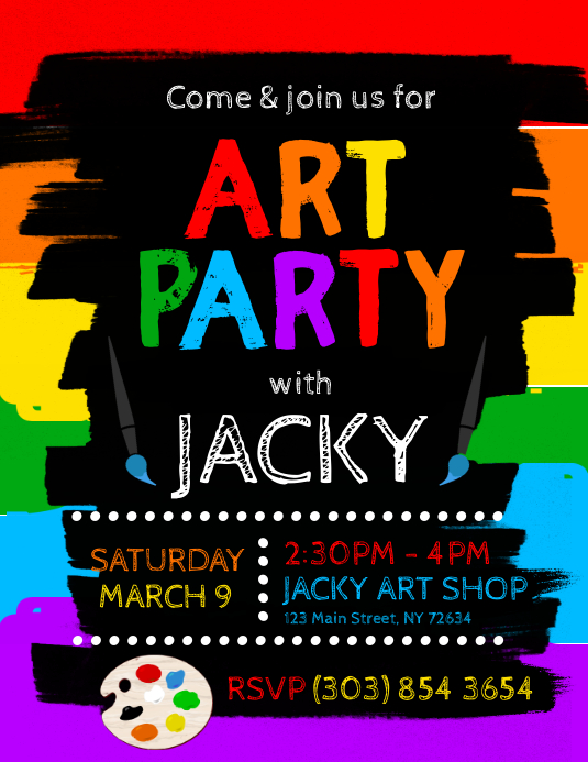 Art Party Flyer template