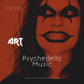 Art Psychedelic music CD Cover Template