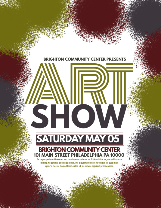 Art Show Template Postermywall