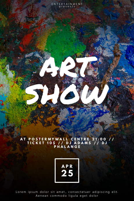 Art Show Flyer Template Postermywall