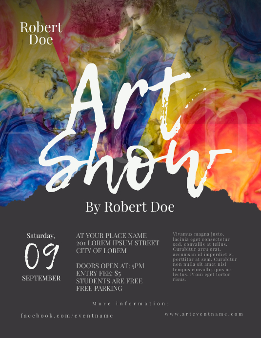 Art Show Flyer Template