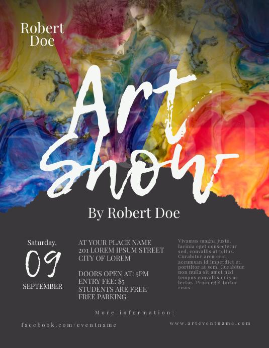 Art Show Flyer Template 传单(美国信函)