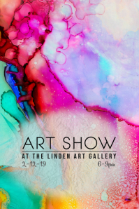 art show gallery reception flyer poster