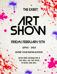 Art Show Poster Template Magdalene Project Org