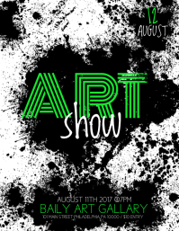 art show Flyer (US Letter) template