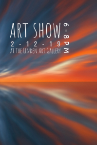 art show reception flyer poster template