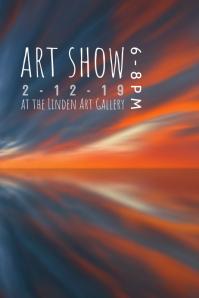 art show reception flyer poster template