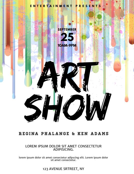 Art Show Watercolor Flyer template