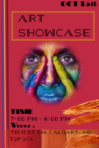 Art showcase Plakat template
