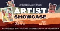 Art Showcase Designer Banner Facebook Shared Image template