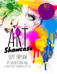 Art Showcase Flyer template