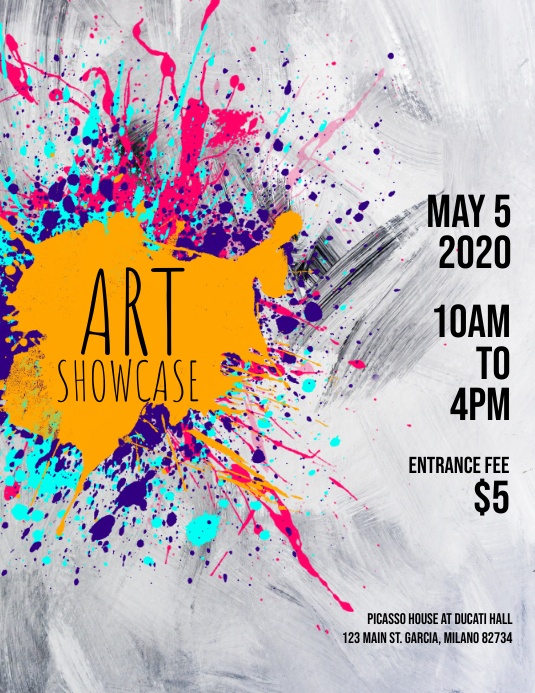 art showcase flyer template postermywall